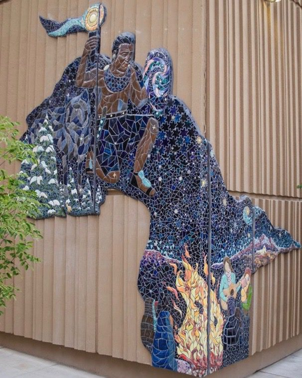 Fire Guardian mural at Albuquerque Convention Center