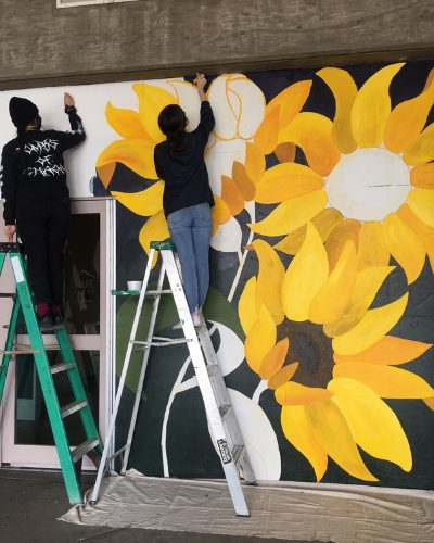 ALMA painted sunflower at Albuquerque convention center