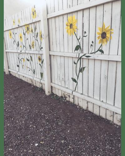 ALMA tile painted sunflowers on Mountain