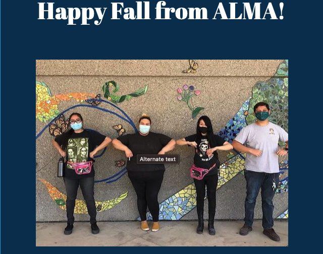 Alma fall newsletter header image 2020