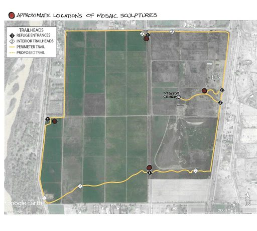 Valle do oro mosaic project map